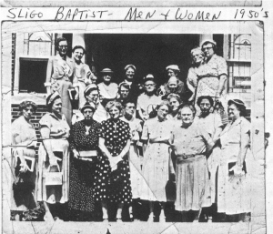 Picture of the ladies of Sligo Baptist Church in the 1950's