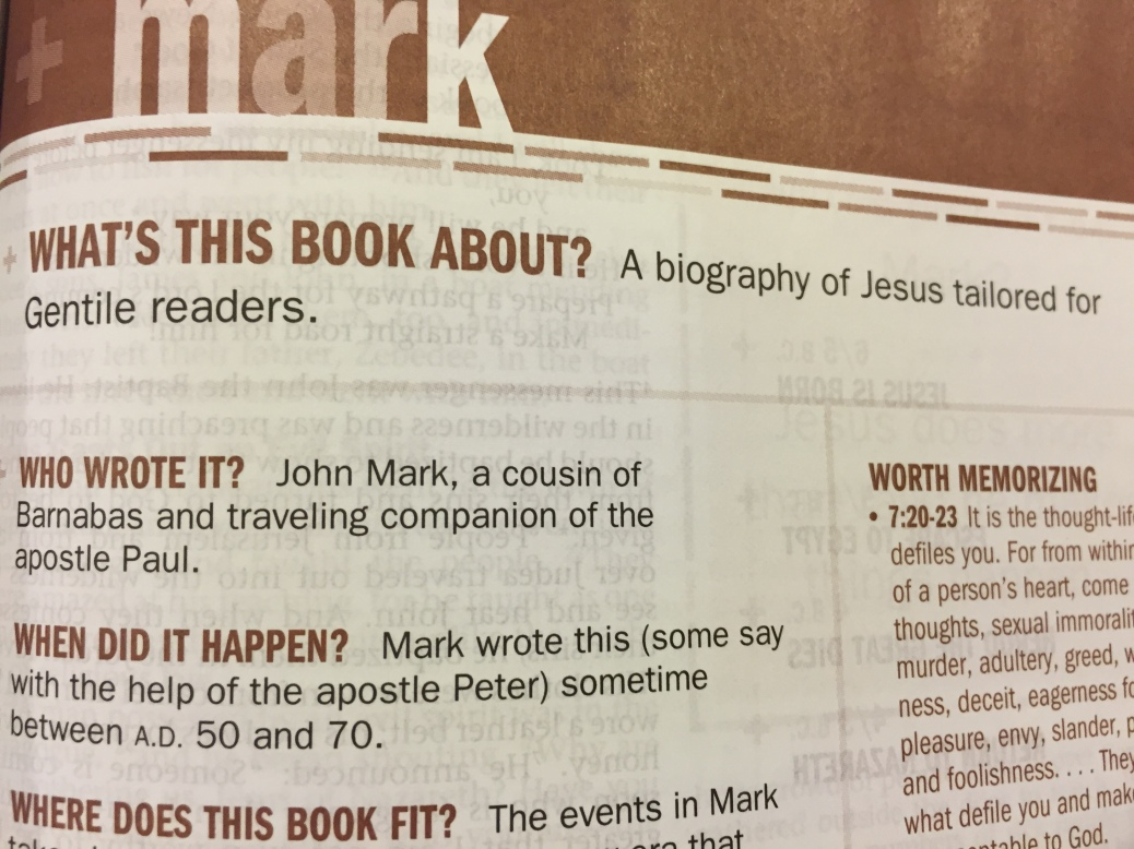 Image of the Gospel of Mark