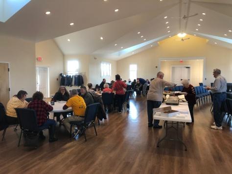 Breakfast in Fellowship hall